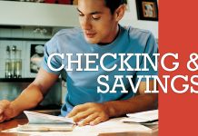 student planning for checking and savings