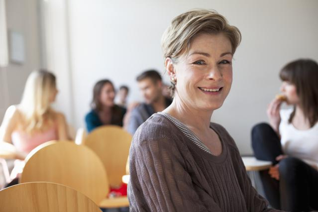 Older student in classroom
