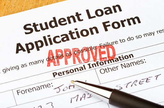 student loan application form: Approved mark