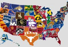 US of map top universities